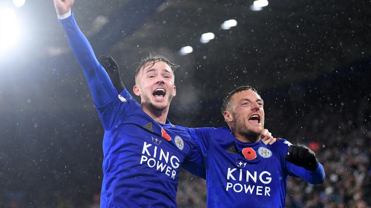 James Maddison und jamie Vardy von Leicester City