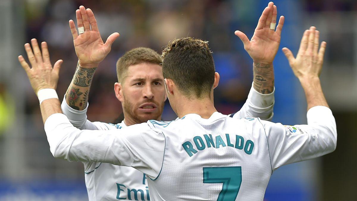 Sergio Ramos, Cristiano Ronaldo - Eibar-Real Madrid - Liga 2017/2018 - Getty Images