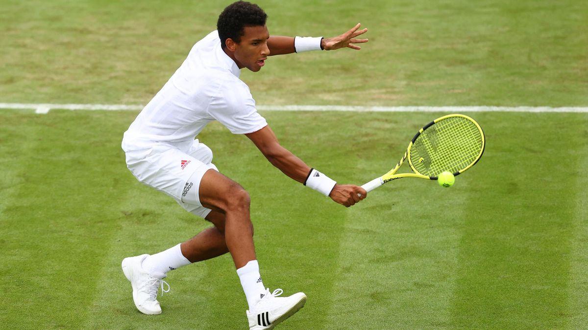 Félix Auger-Aliassime à Wimbledon en 2021