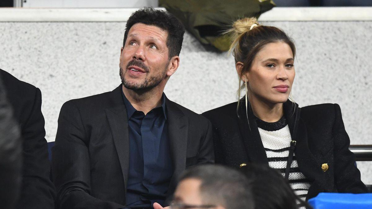 El Cholo Simeone y su pareja no se quisieron perder la final