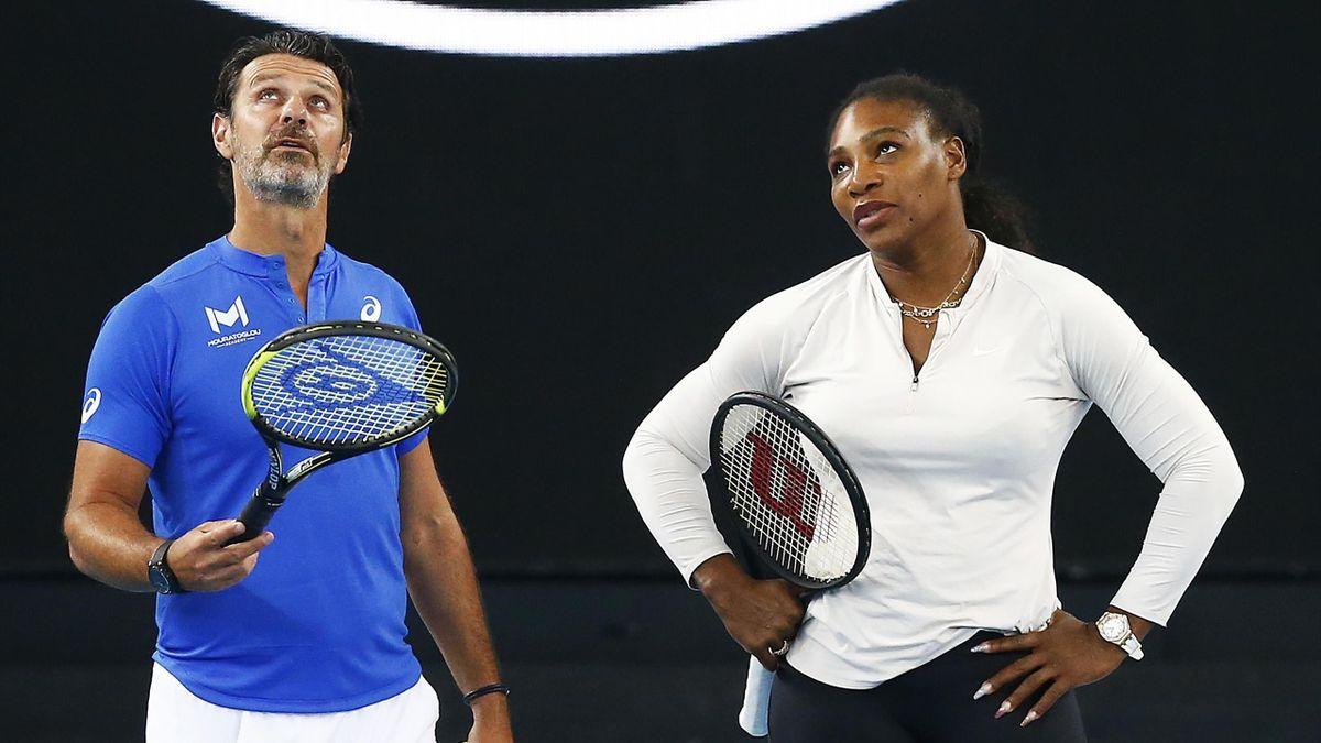 Patrick Mouratoglou und Serena Williams
