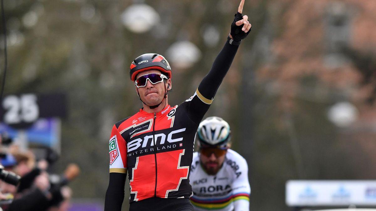 Greg Van Avermaet vainqueur du Het Nieuwsblad.
