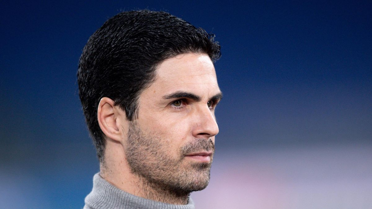 Mikel Arteta manager of Arsenal FC during the UEFA Europa League round of 32 Leg 1 match between SL Benfica and Arsenal FC at Stadio Olimpico, Rome, Italy on 18 February 2021.