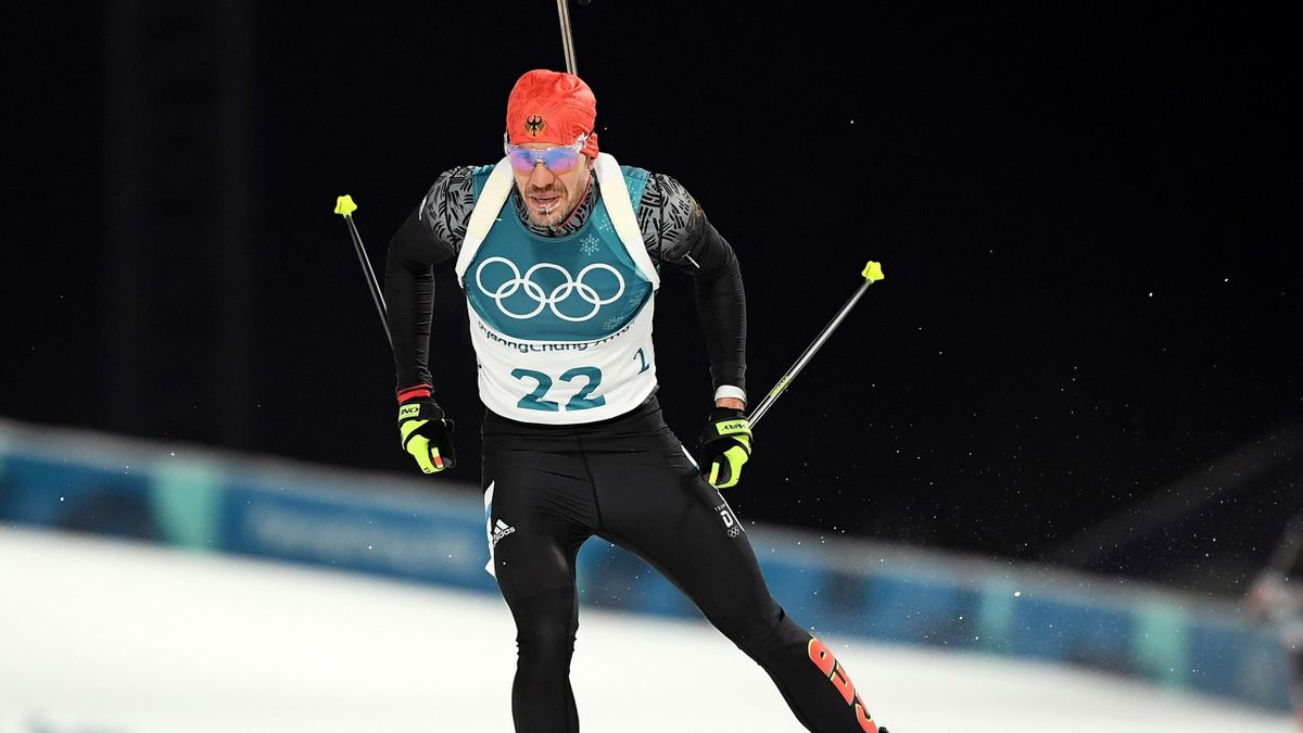 Arnd Peiffer of Germany competes during the Men's 10km Sprint Biathlon on day two of the PyeongChang 2018 Winter Olympic Games at Alpensia Biathlon Centre on February 11, 2018 in Pyeongchang-gun, South Korea.