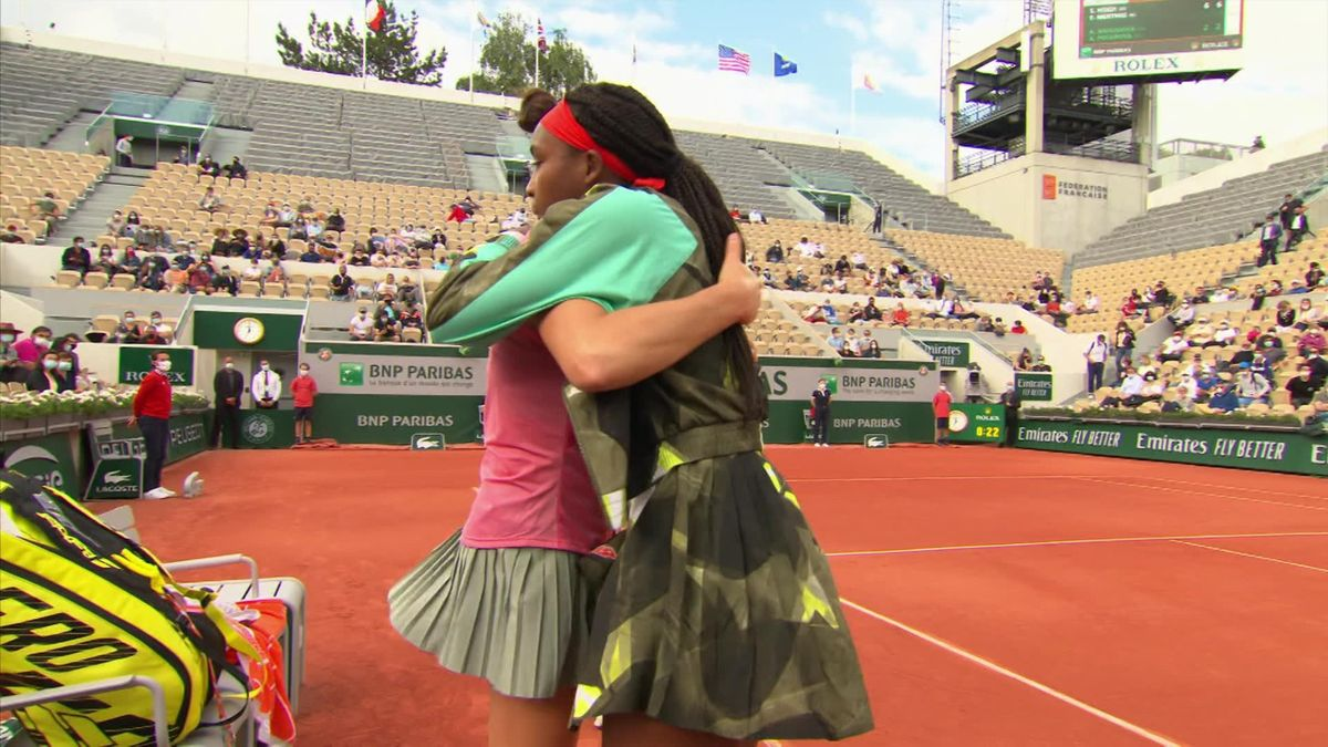 Very sporting - Gauff gives Brady hug and claps her off court after injury ends match