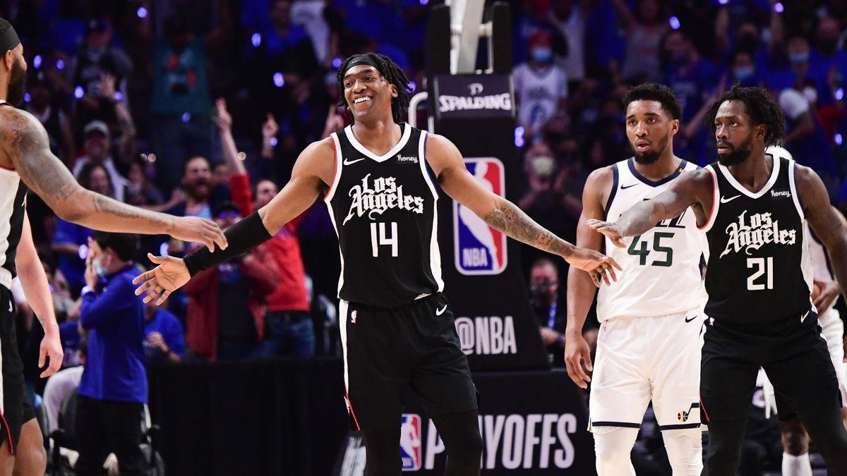 Terance Mann (Mitte) warf in Spiel 6 gegen die Utah Jazz 39 Punkte