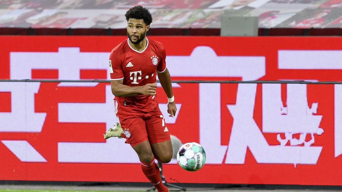 Serge Gnabry vom FC Bayern hat am Montag wieder mit der Mannschaft trainiert