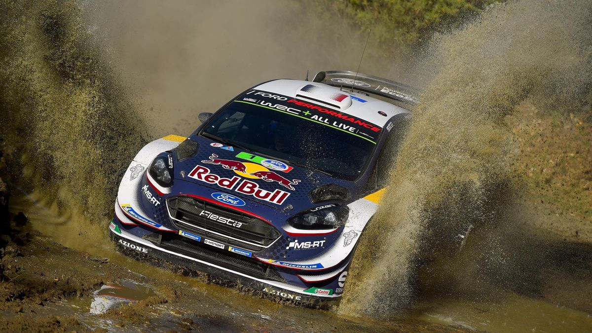 Sebastien Ogier from France and Julien Ingrassia from France compete in their M-Sport Ford WRT Ford Fiesta WRC during Day Two of the WRC Mexico on March 10, 2018 in Leon, Mexico