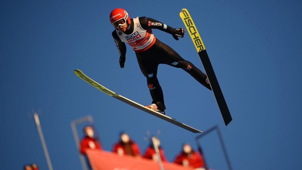 Markus Eisenbichler im Mixed-Team bei der WM in Oberstdorf