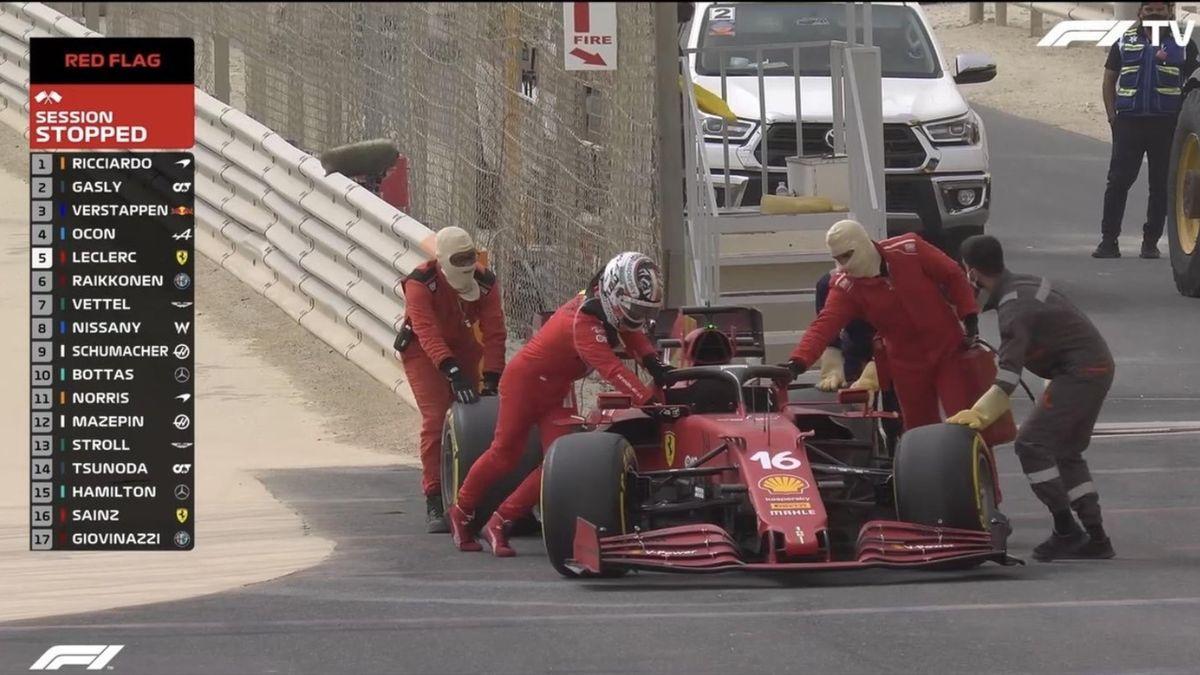 Ferrari, problemi nei test (foto Twitter)