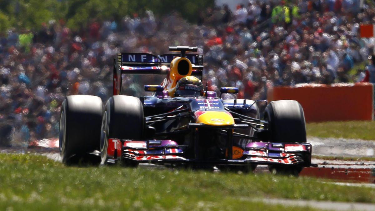Sebastian Vettel 2013 auf dem Nürburgring