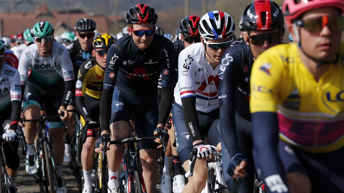 CHIROUBLES, FRANCE - MARCH 10: Tao Geoghegan Hart of United Kingdom and Team INEOS Grenadiers during the 79th Paris - Nice 2021