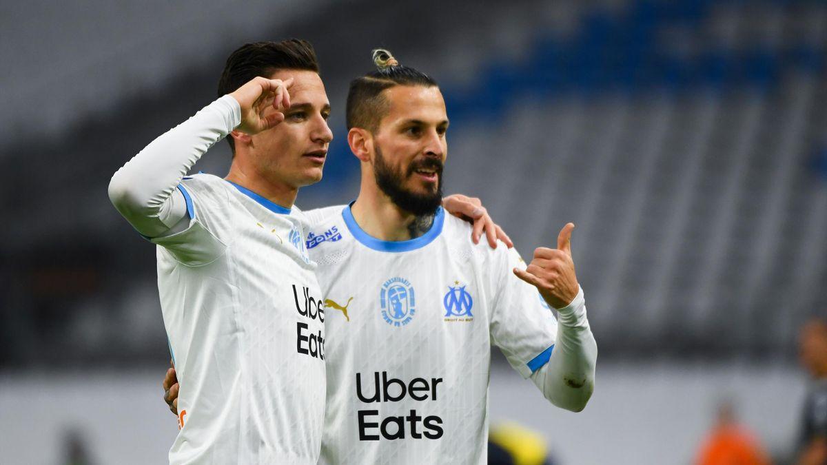 Florian Thauvin et Dario Benedetto (OM) contre Monaco en Ligue 1