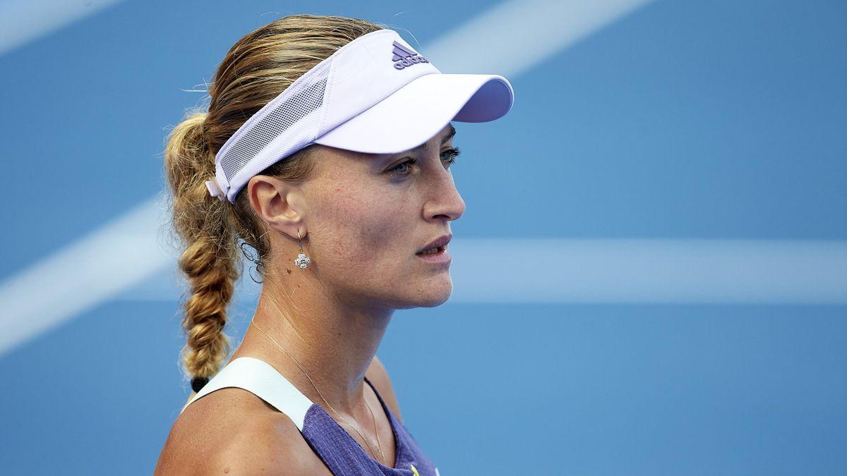 Kristina Mladenovic lors du Qatar Total Open en février 2020
