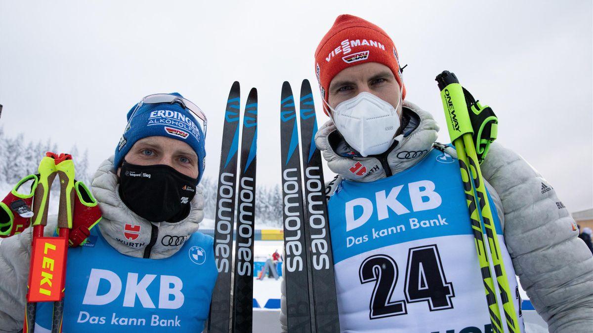 Erik Lesser (links) und Arnd Peiffer