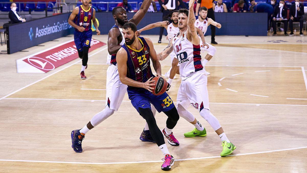Nikola Mirotic lidera la victoria del Barcelona ante el Baskonia en la Euroliga