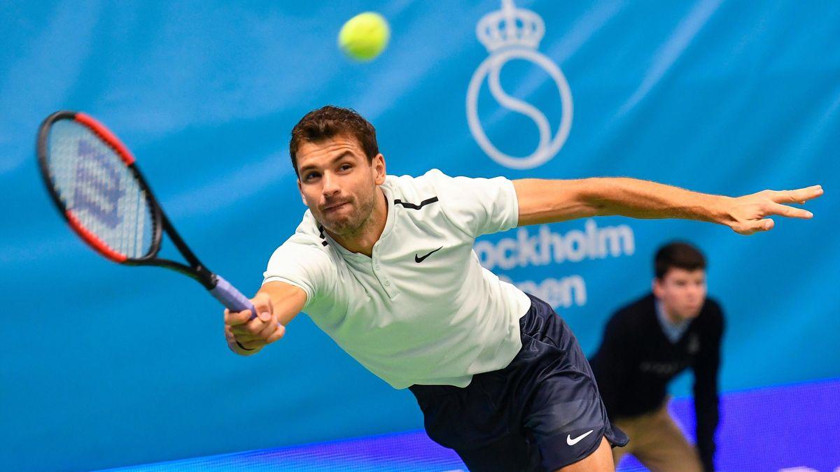 Grigor DImitrov books a place in the Stokholm Open semi-finals