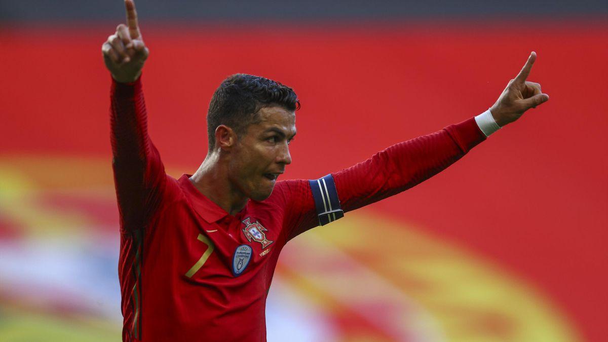 Cristiano Ronaldo a segno in Portogallo-Israele - Amichevoli 2021