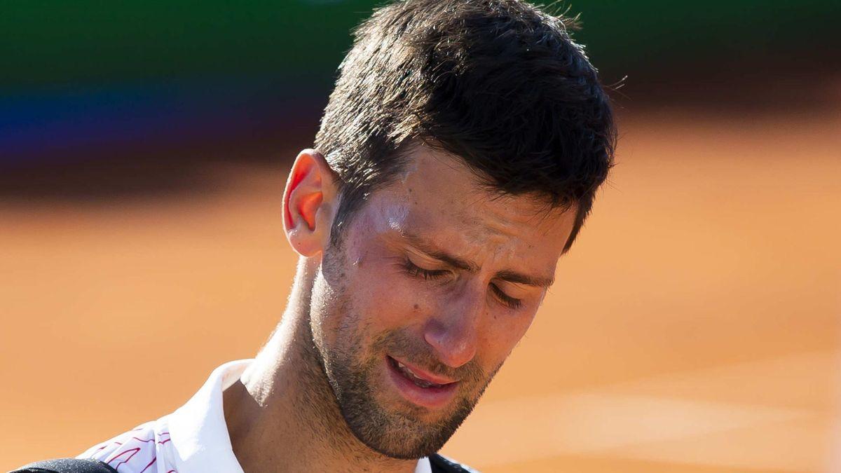 Novak Djokovic en larmes lors de l'Adria Tour 2020