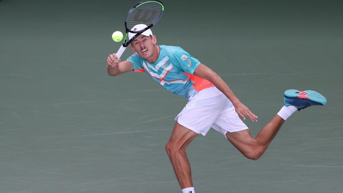 Alex de Minaur during his US Open match against Vasek Pospisil