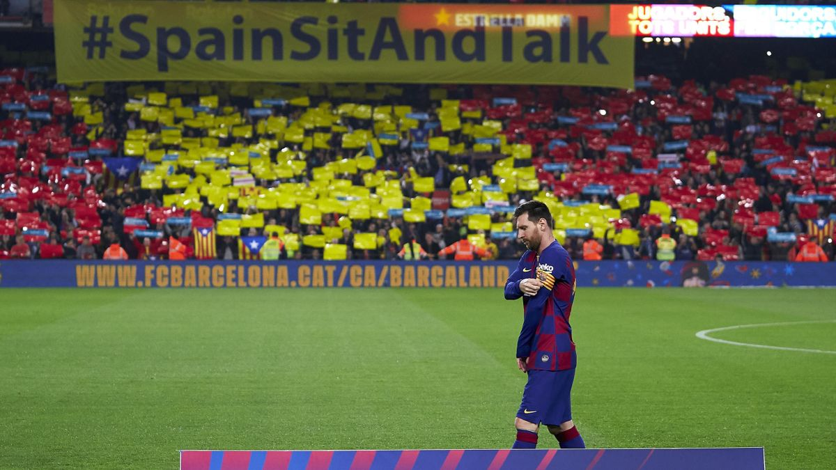 Лионель Месси, фанатская акция Spain, Sit and Talk, «Барселона» – «Реал» (Мадрид)