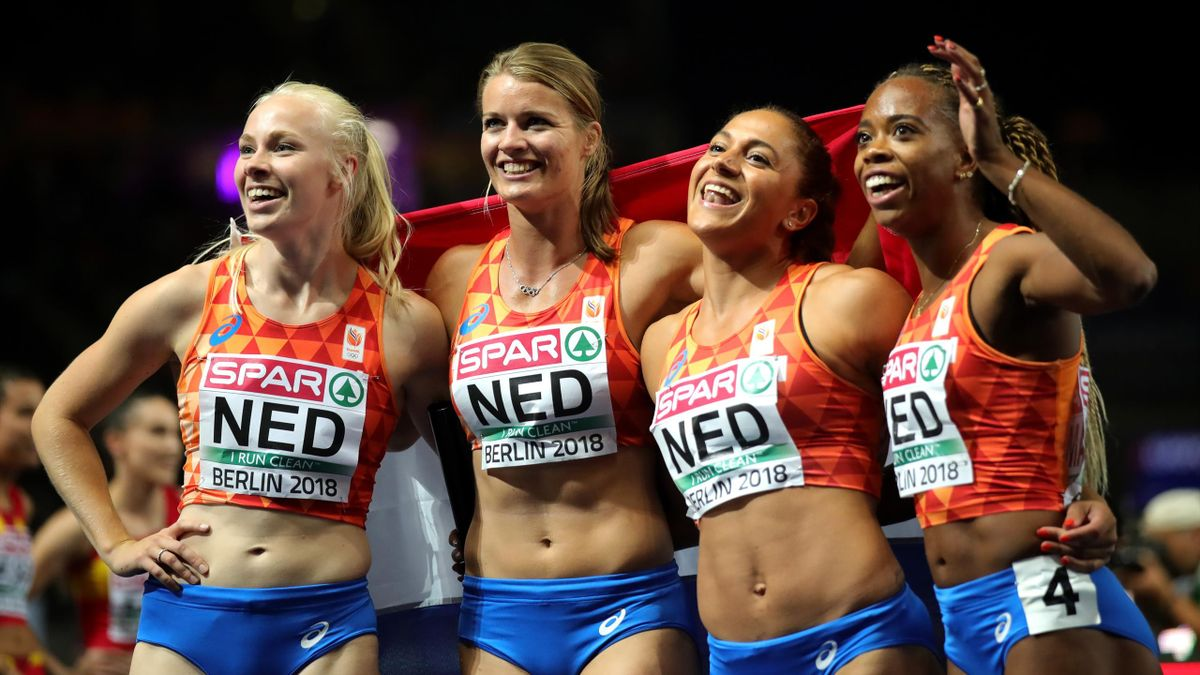 4x100 meter EK vrouwen Nederland