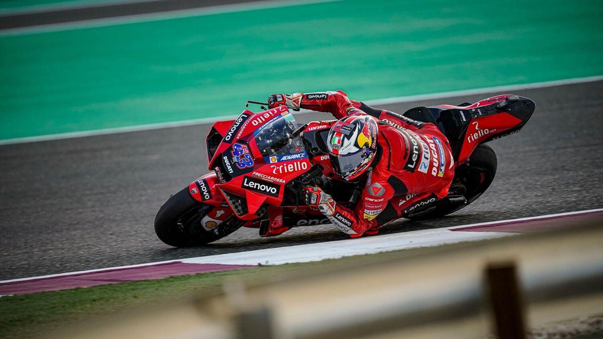 Jack Miller (Ducati Team) lors des essais de pré-saison au Qatar, le 12 mars 2021