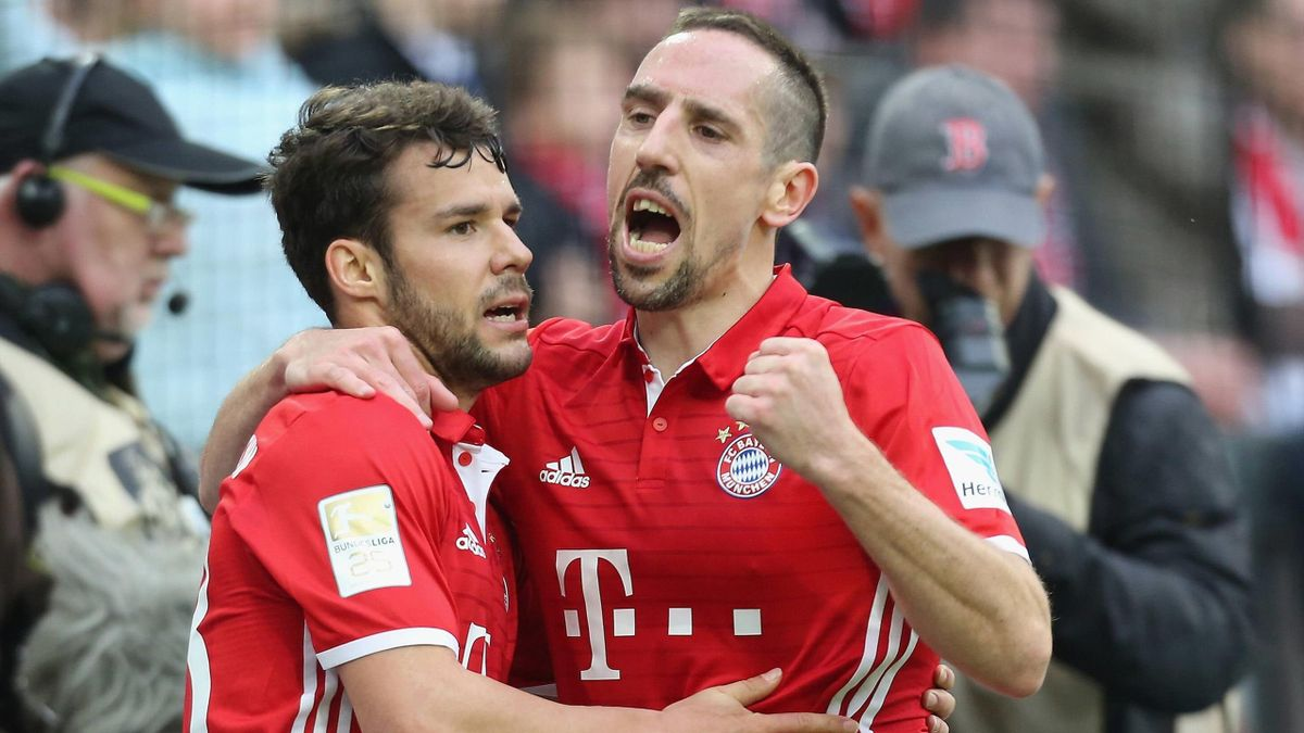 Bernat & Ribéry - Köln-Bayern München - Bundesliga 2016/2017 - Imago