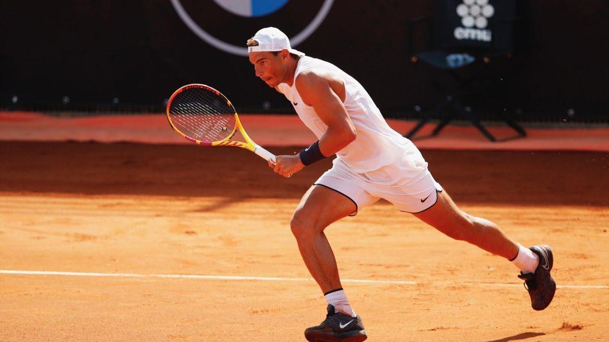 Rafael Nadal in voorbereiding in Rome
