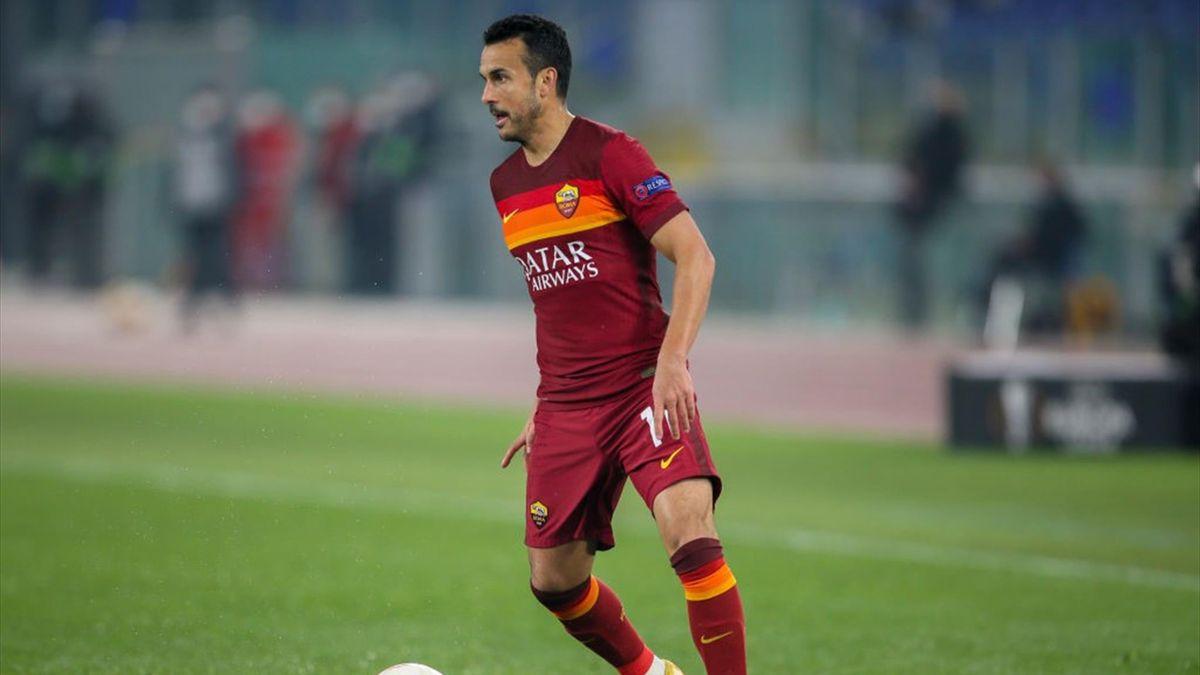 Pedro Rodriguez con la maglia della Roma - Europa League 2020-21