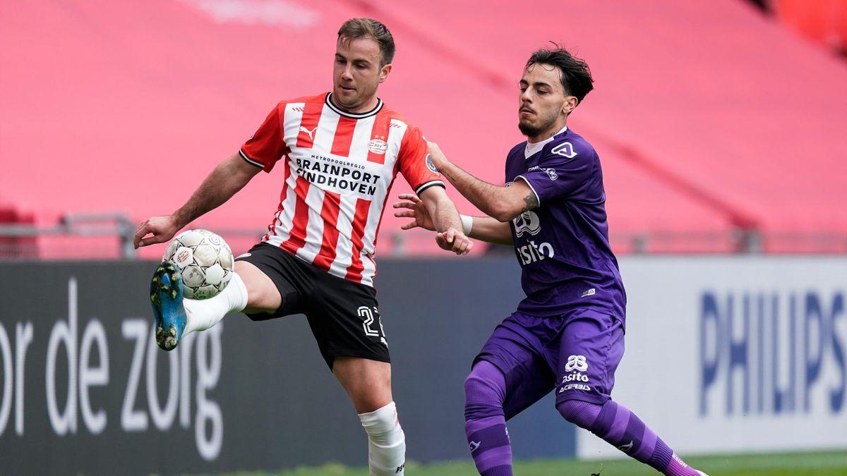 Eindhovens Mario Götze (links) im Spiel gegen Heracles Almelo