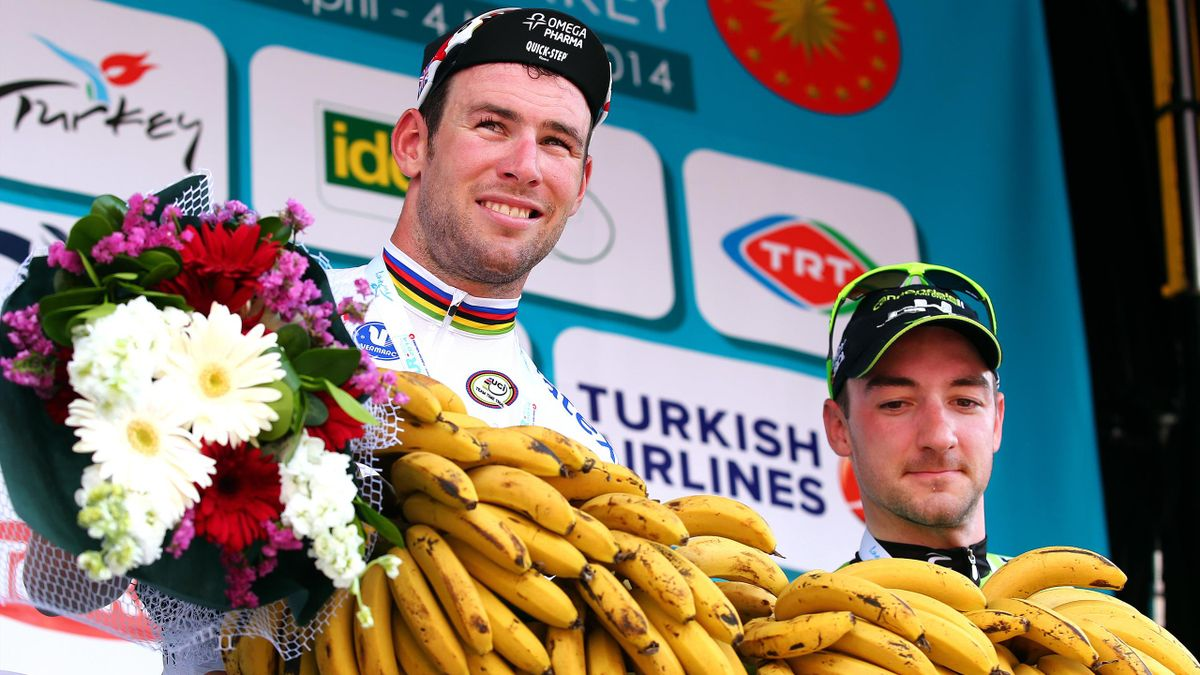 Mark Cavendish og Elia Viviani i Tour of Turkey