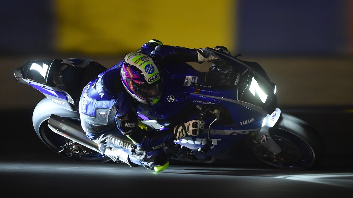 German Yart Yamaha YZF R1 Formula EWC rider N°7 Marvin Fritz competes during the 42st Le Mans 24-hours endurance moto race, on April 20, 2019, in Le Mans,