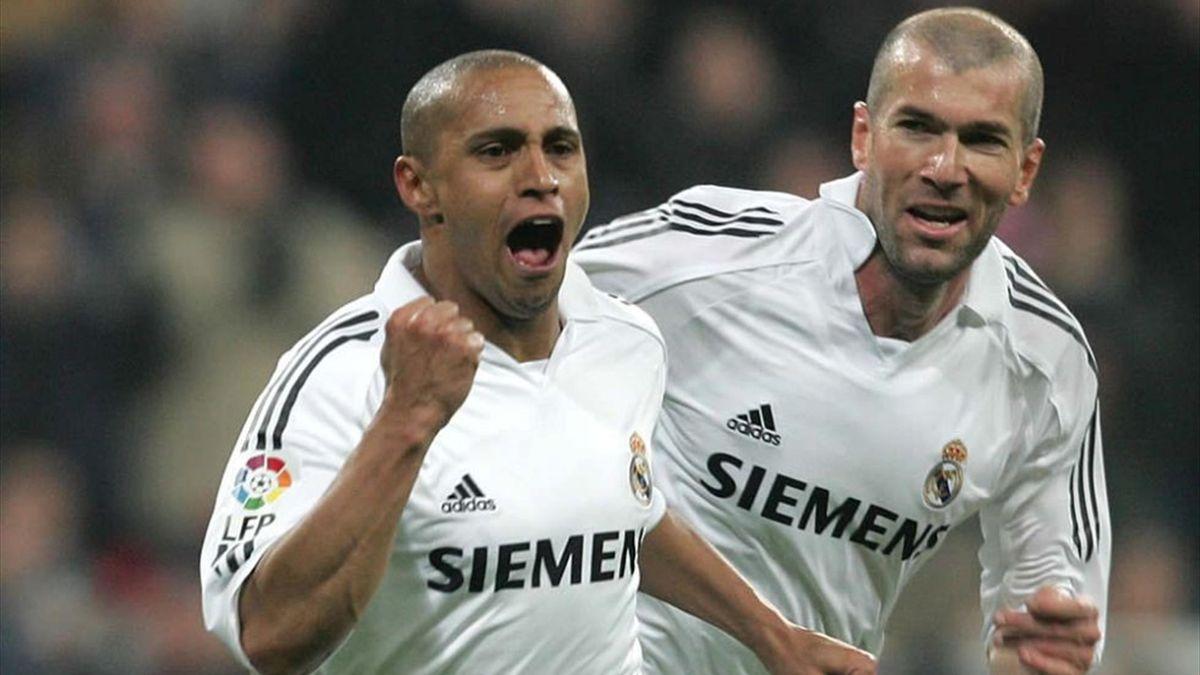 Roberto Carlos & Zinedine Zidane