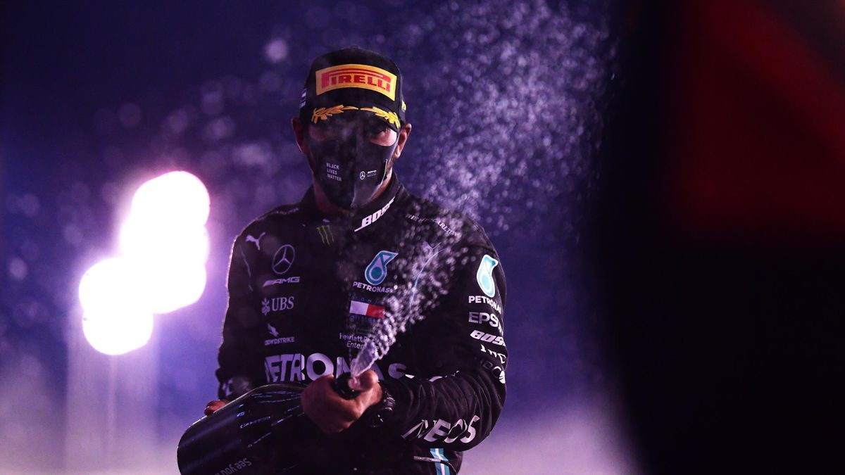 Lewis Hamilton lors du dernier Grand Prix de la saison 2020 à Abou Dabi, le 13 décembre