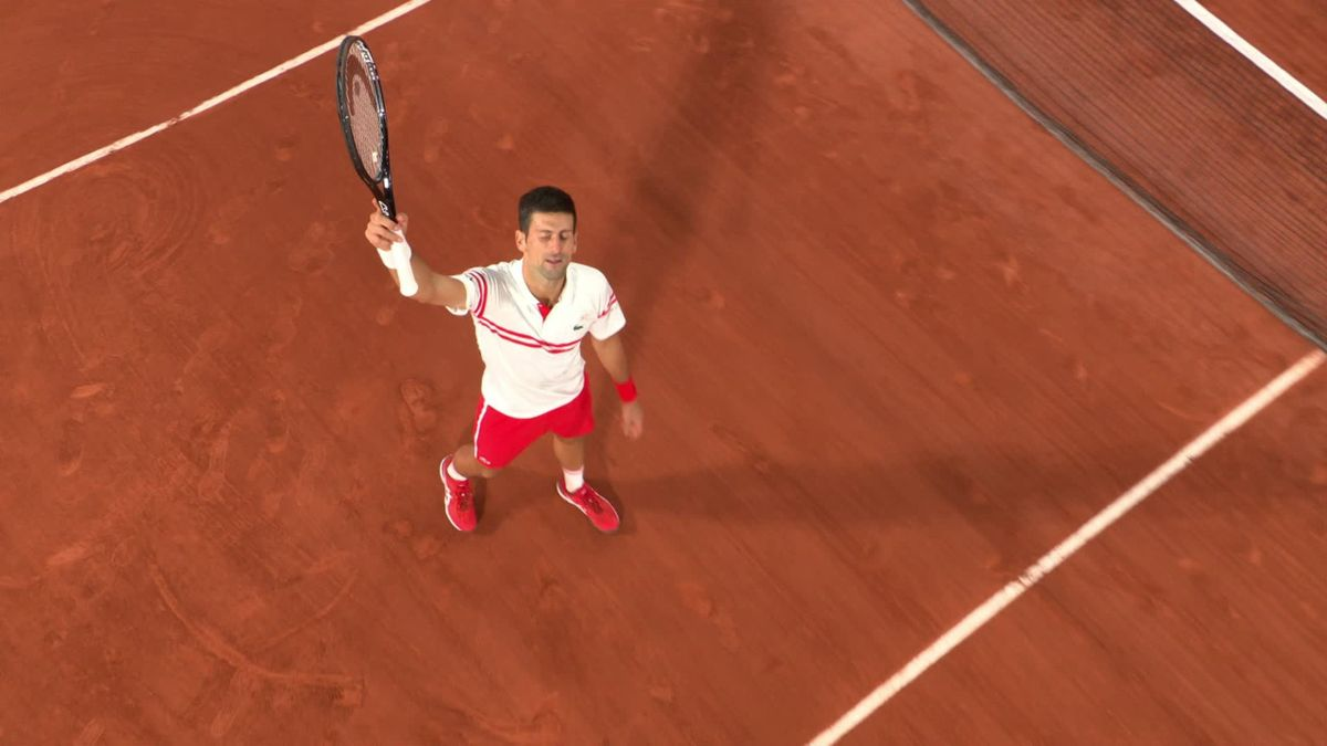Watch the moment Djokovic beats Nadal to reach final at Roland Garros
