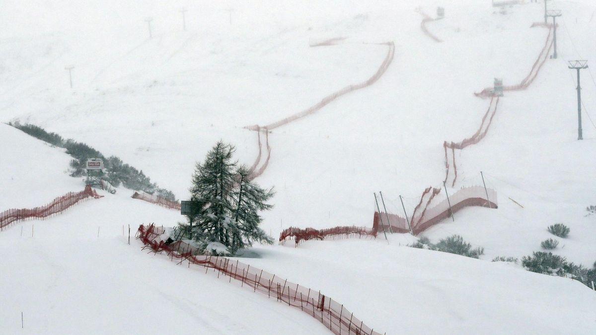 La piste de St-Moritz en Suisse