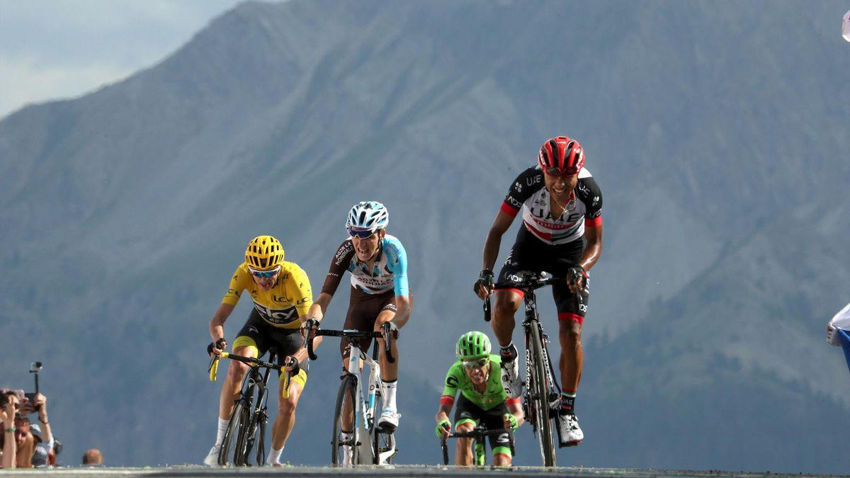 Bardet, Froome et Uran à l'arrivée de la 18e étape