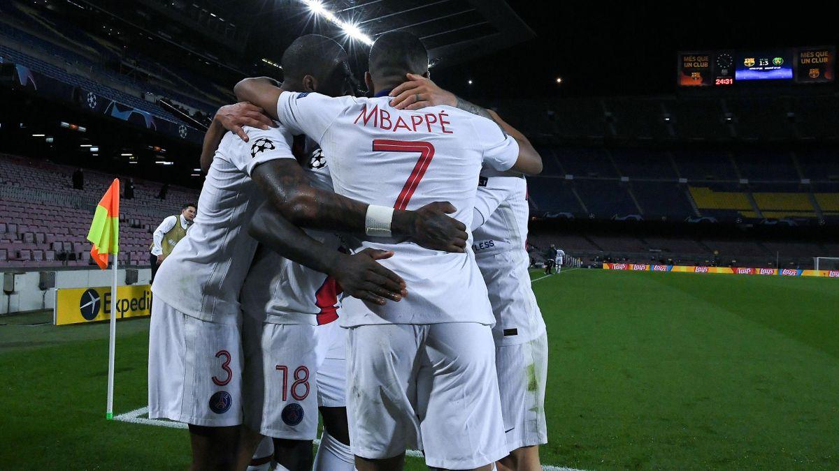 Kylian Mbappé et sa troupe victorieuse face au Barça