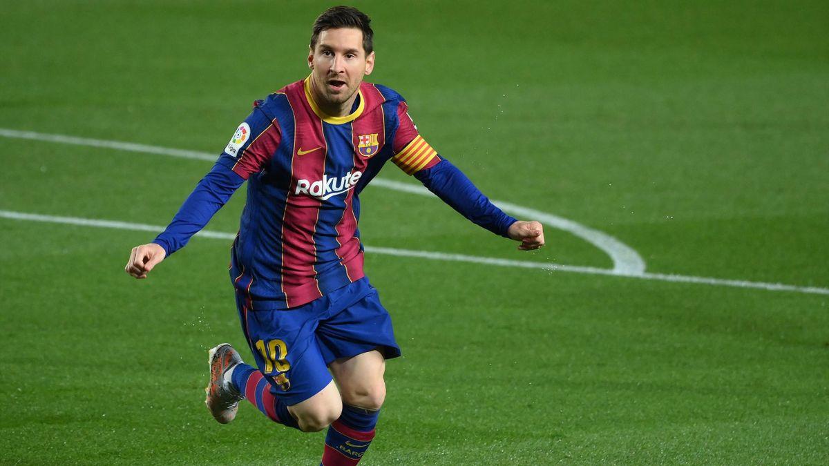 Lionel Messi jubelt - FC Barcelona vs. FC Getafe