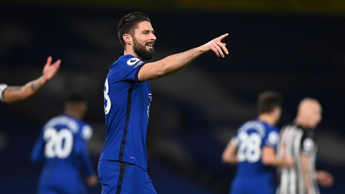 Olivier Giroud, buteur pour Chelsea contre Newcastle en Premier League le 15 février 2021