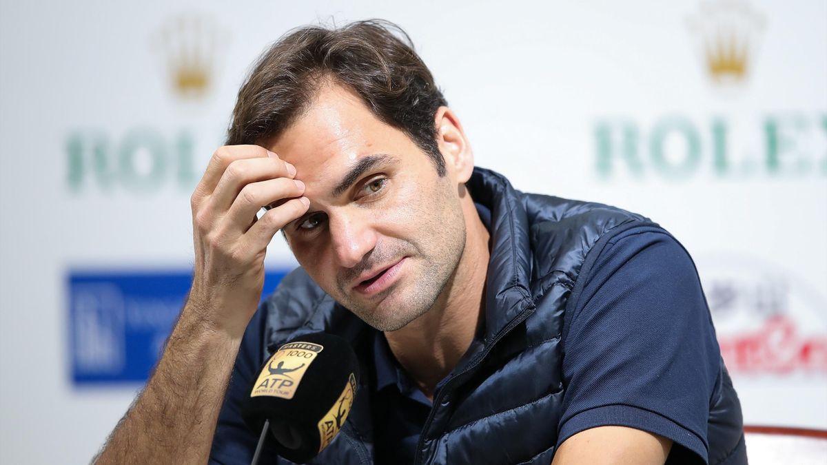 Roger Federer lors du Masters 1000 de Shanghai