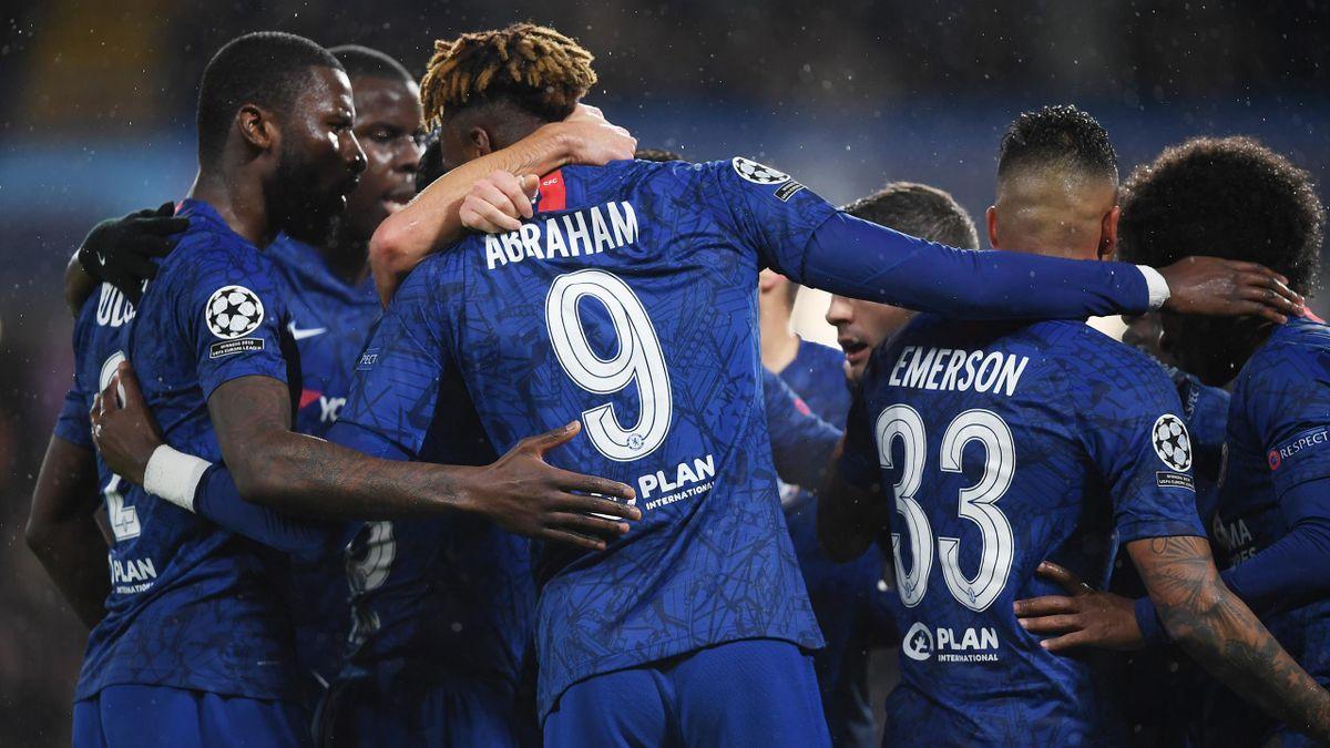 Chelsea celebrate their equaliser