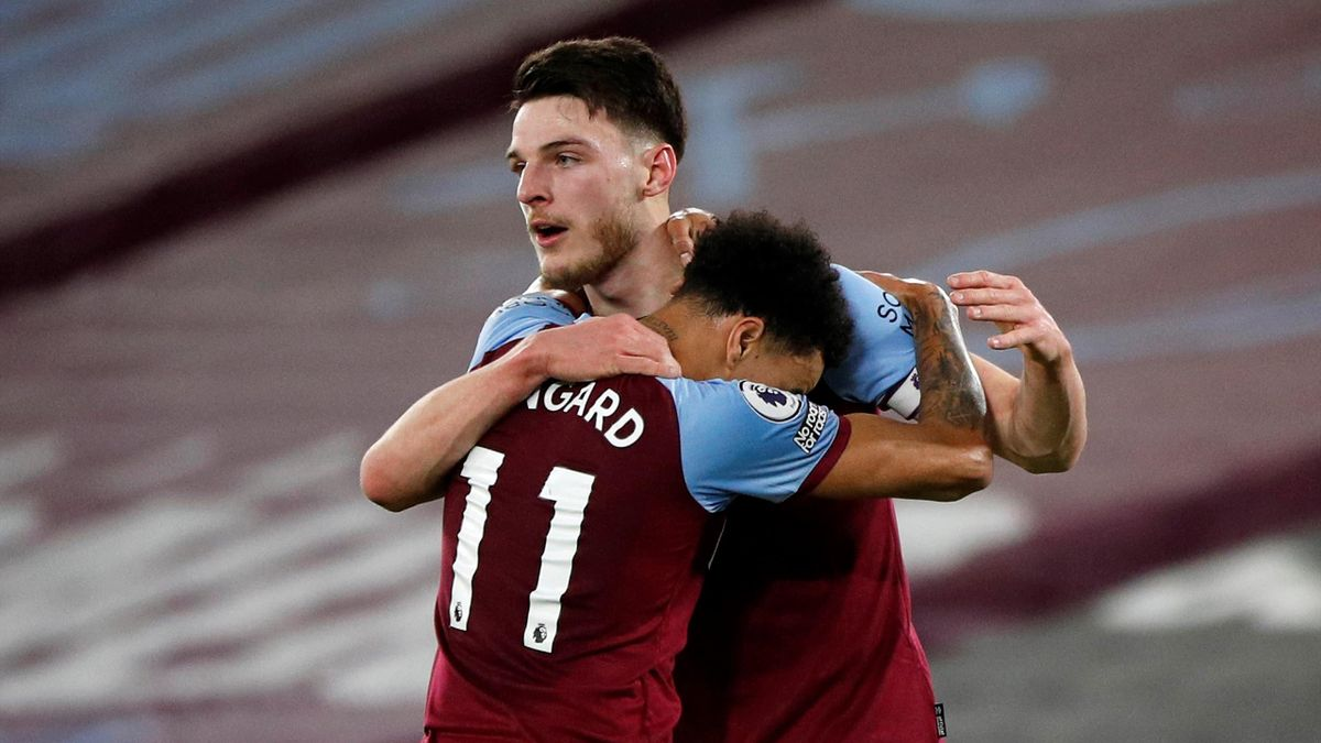 Jesse Lingard and Declan Rice | West Ham United