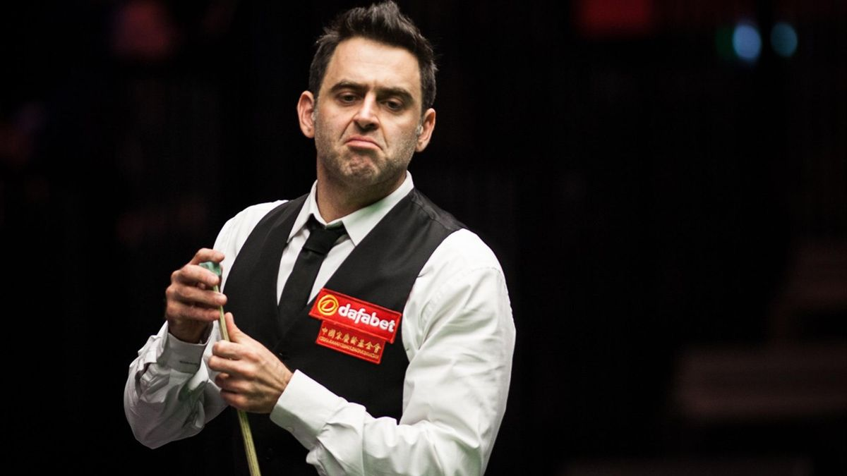 Ronnie O'Sullivan in action at the Masters. Chengzhe Tai/World Snooker