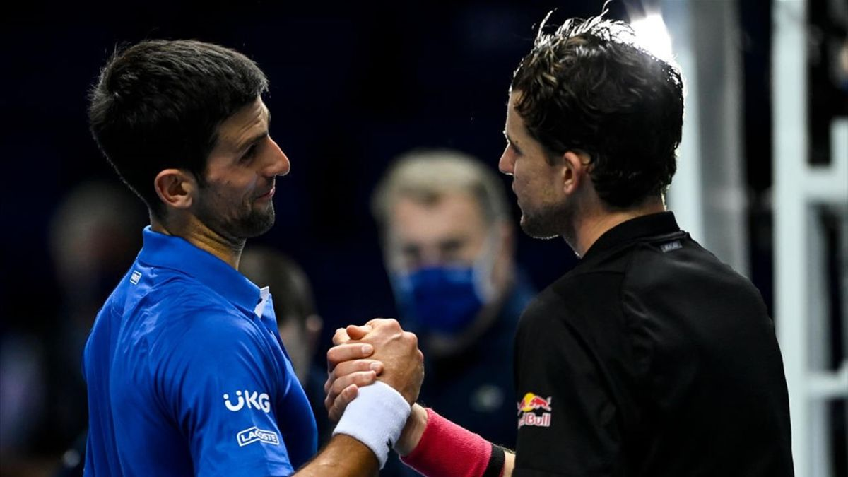 Dominic Thiem și Novak Djokovic
