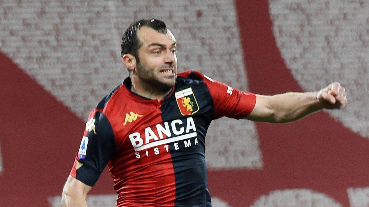 Pandev esulta per un gol in Genoa-Benevento - Serie A 2020/2021 - Imago