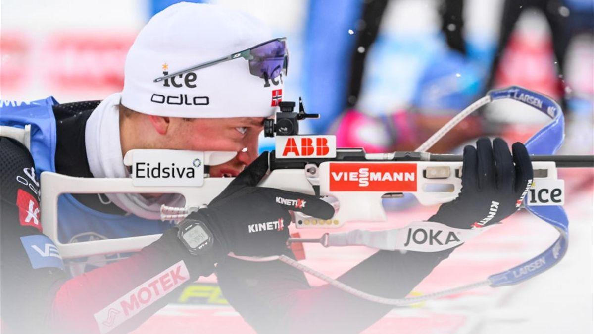 Tarjei Boe lors du relais 4x7.5 km à Oberhof le 15 janvier 2021