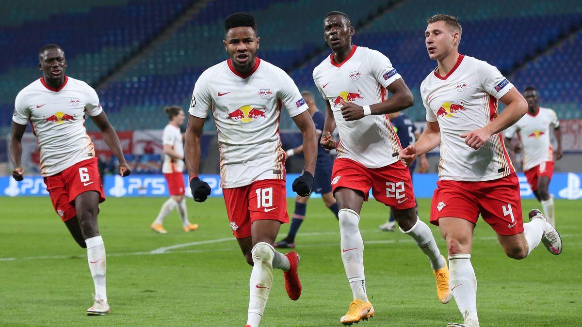 Christopher Nkunku a marcat golul de 1-1 în victoria lui Leipzig, scor 2-1, în fața lui PSG