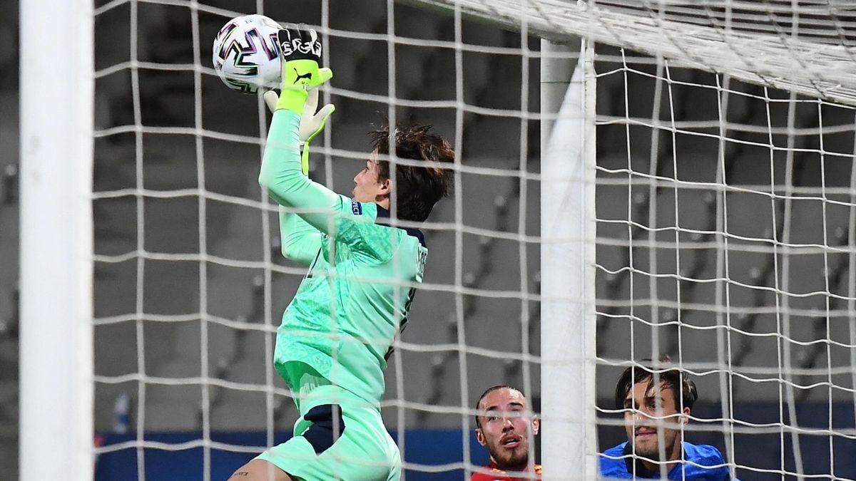 Spagna-Italia, Europeo 2021 Under 21: il portiere degli Azzurrini Marco Carnesecchi (Getty Images)